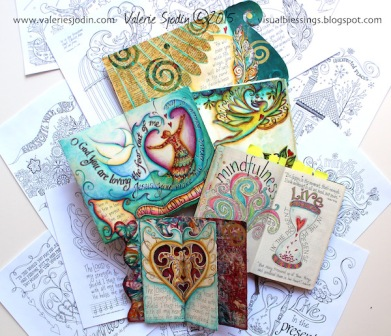 journal-coloring book collection-Valerie Sjodin